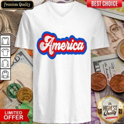 Awesome America Retro V-neck