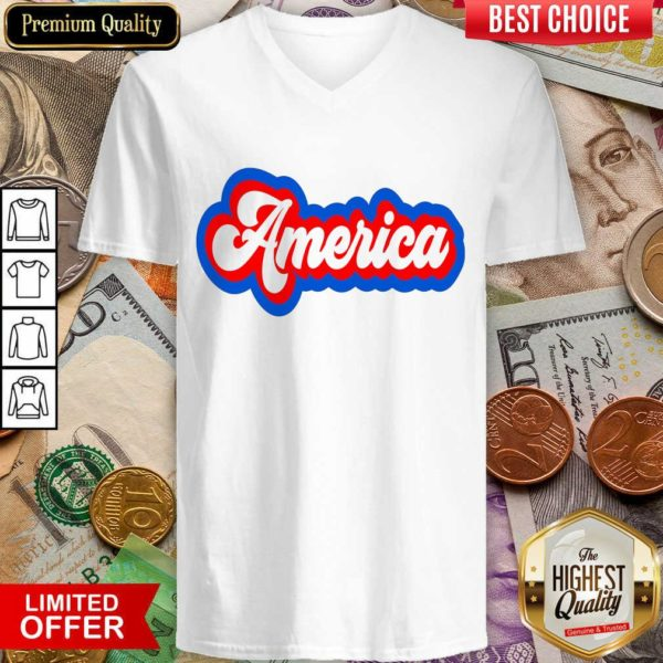 Awesome America Retro V-neck