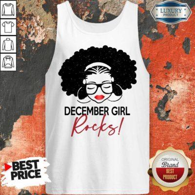 Excellent December Girl Rocks Tank Top