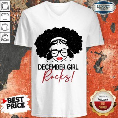 Excellent December Girl Rocks V-neck