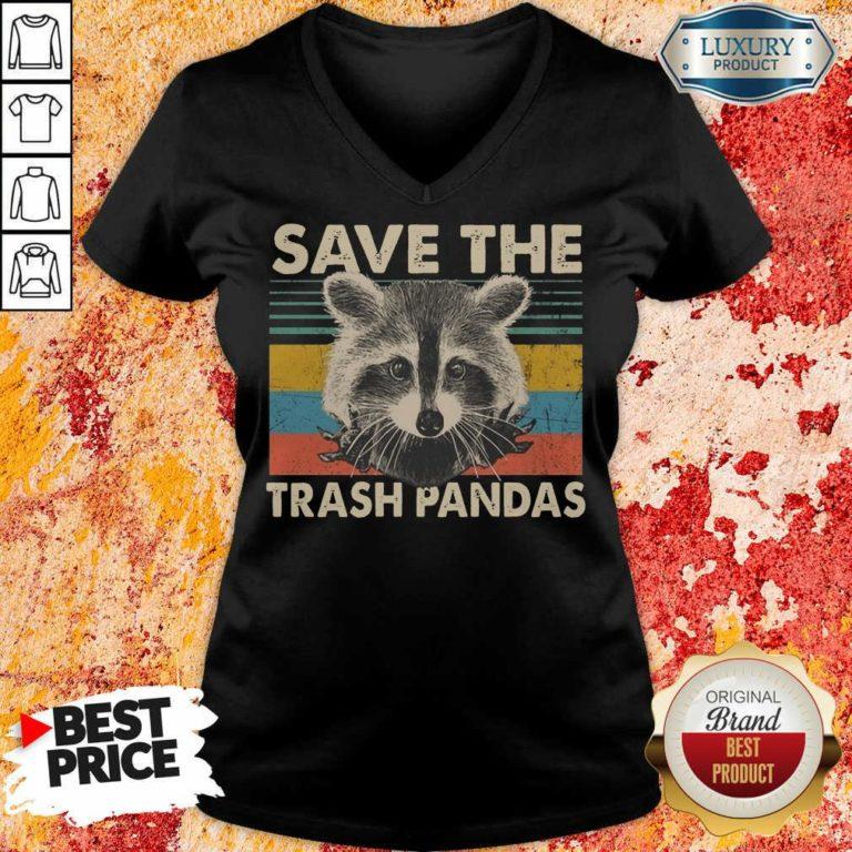 Fantastic Save The Trash Pandas V-neck