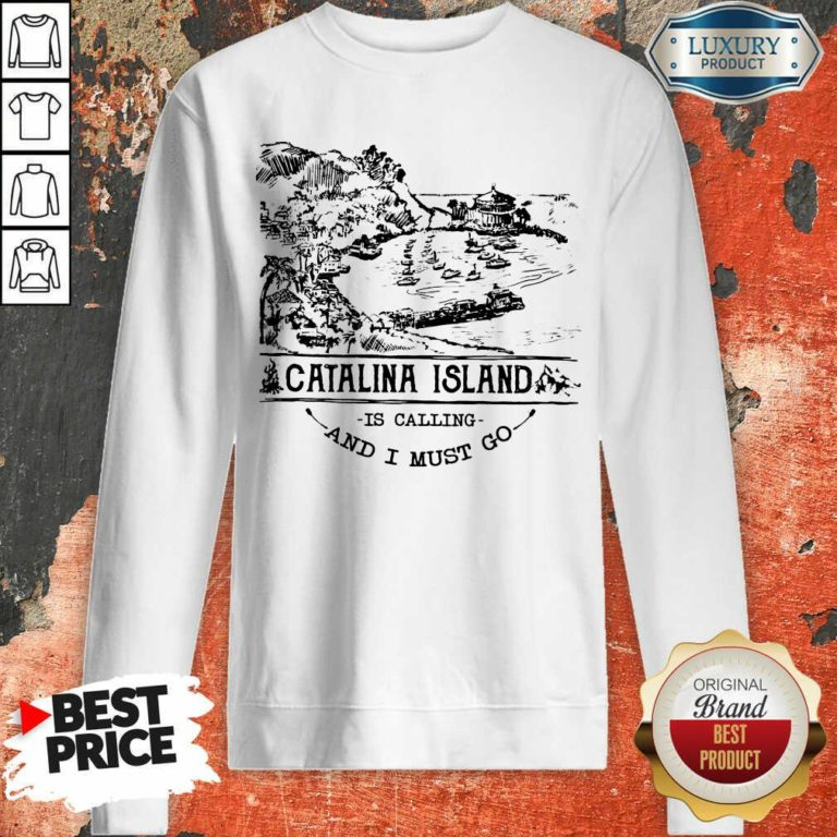Funny Camping2801 Catalina Island Is Calling And I Must Go Sweatshirt