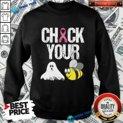 Funny Check Your Boo Bees Breast Cancer Sweatshirt