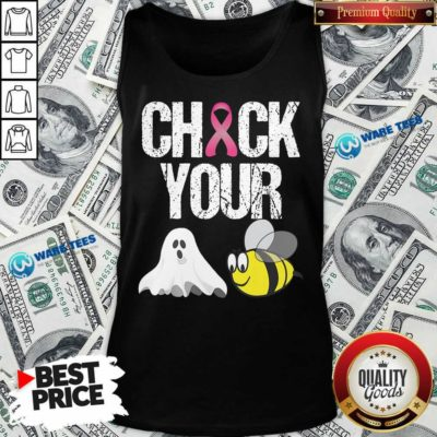 Funny Check Your Boo Bees Breast Cancer Tank Top