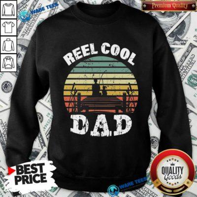 Funny Reel Cool Dad Vintage Sweatshirt