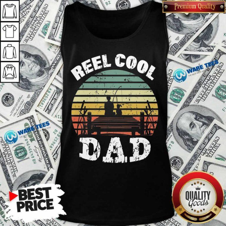Funny Reel Cool Dad Vintage Tank Top