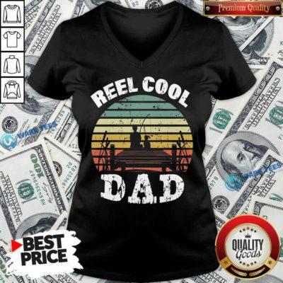 Funny Reel Cool Dad Vintage V-neck