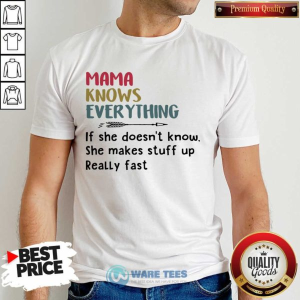 Nice Mama Knows Everything Shirt