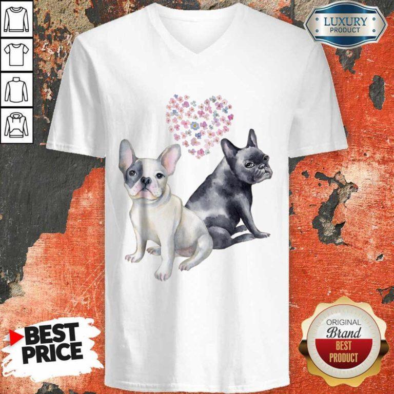 Premium Flower Lovers French Bulldog V-neck