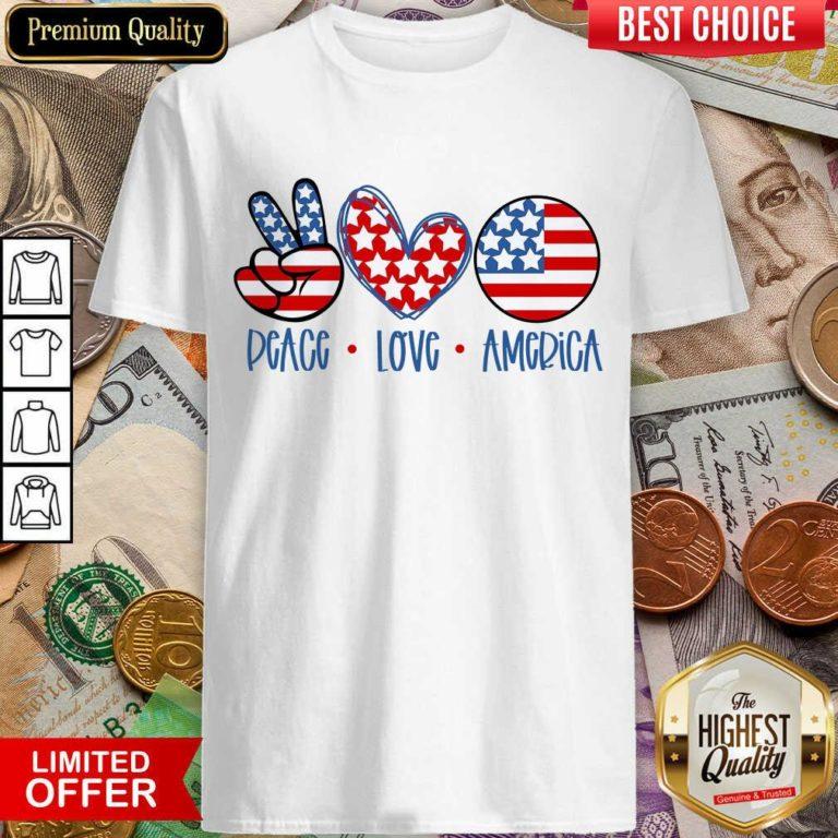 Premium Peace Love America Shirt