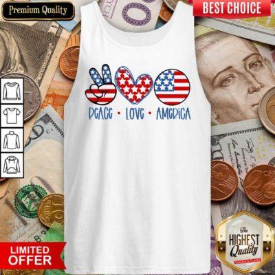 Premium Peace Love America Tank Top