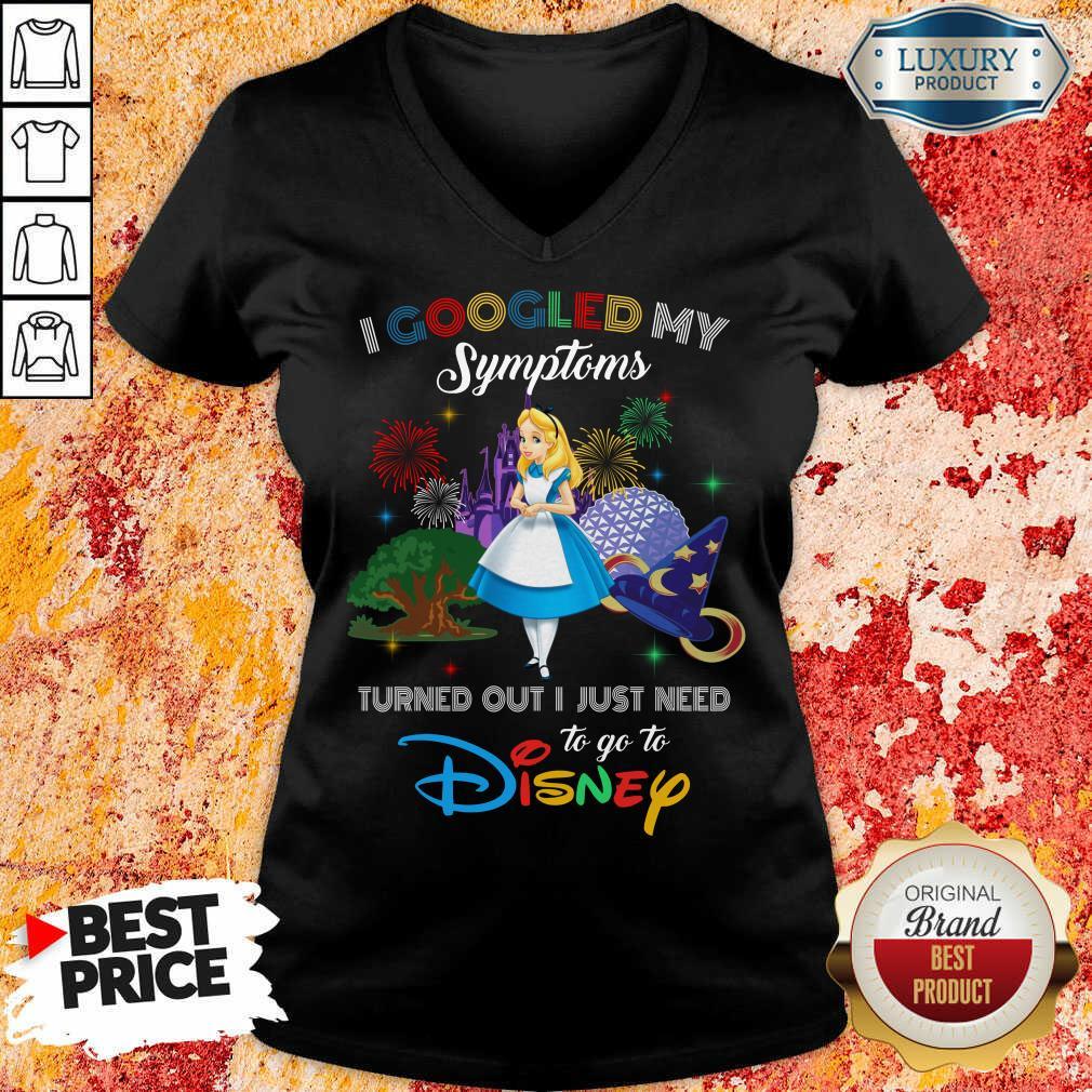 Pretty Alice I Googled My Symptoms Disney V-neck