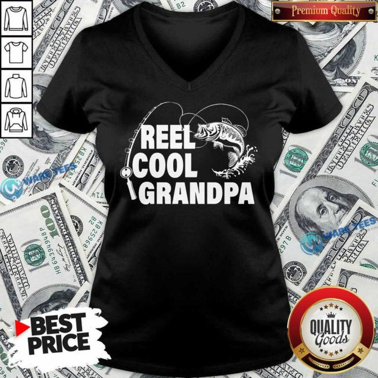 Pretty Reel Cool Grandpa V-neck