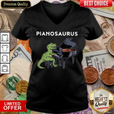 Top Pianosaurus V-neck