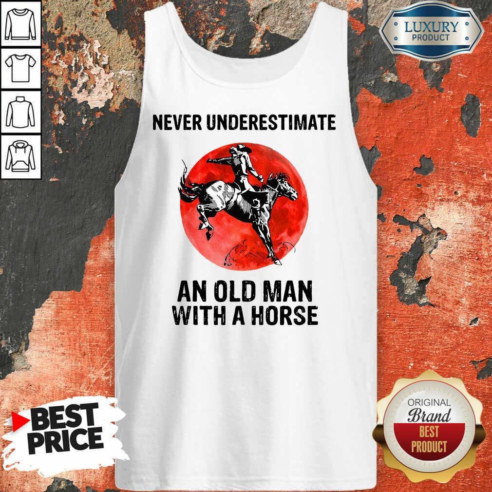 An Old Man With A Horse Tank Top