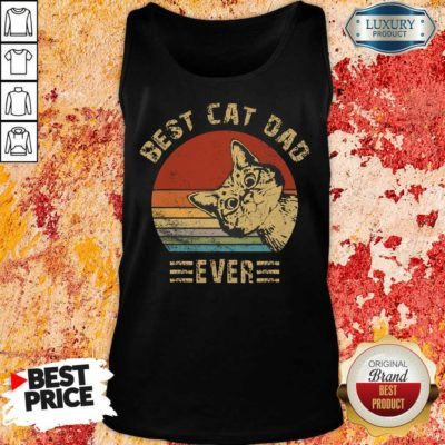 Best Cat Dad Ever Vintage Tank Top