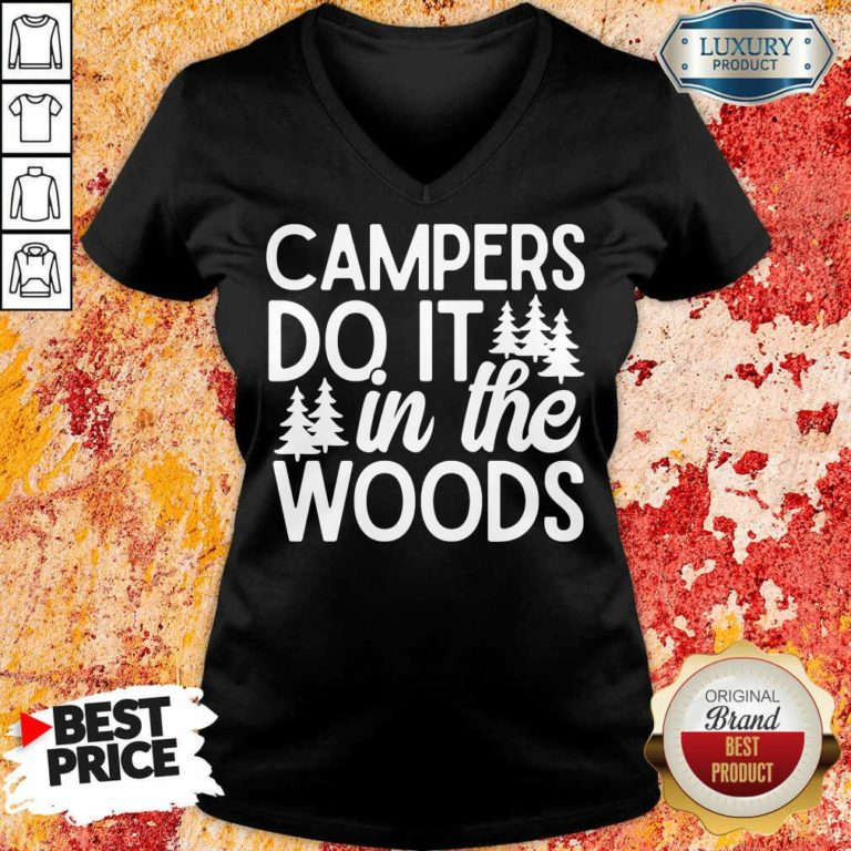 Campers Do It In The Woods V-neck