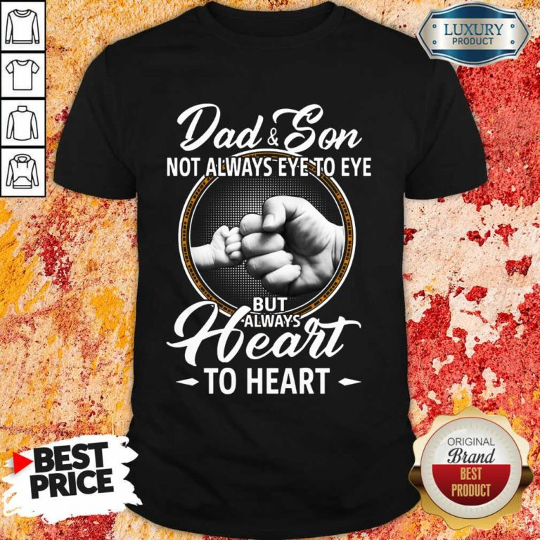 Dad And Son To Heart Shirt