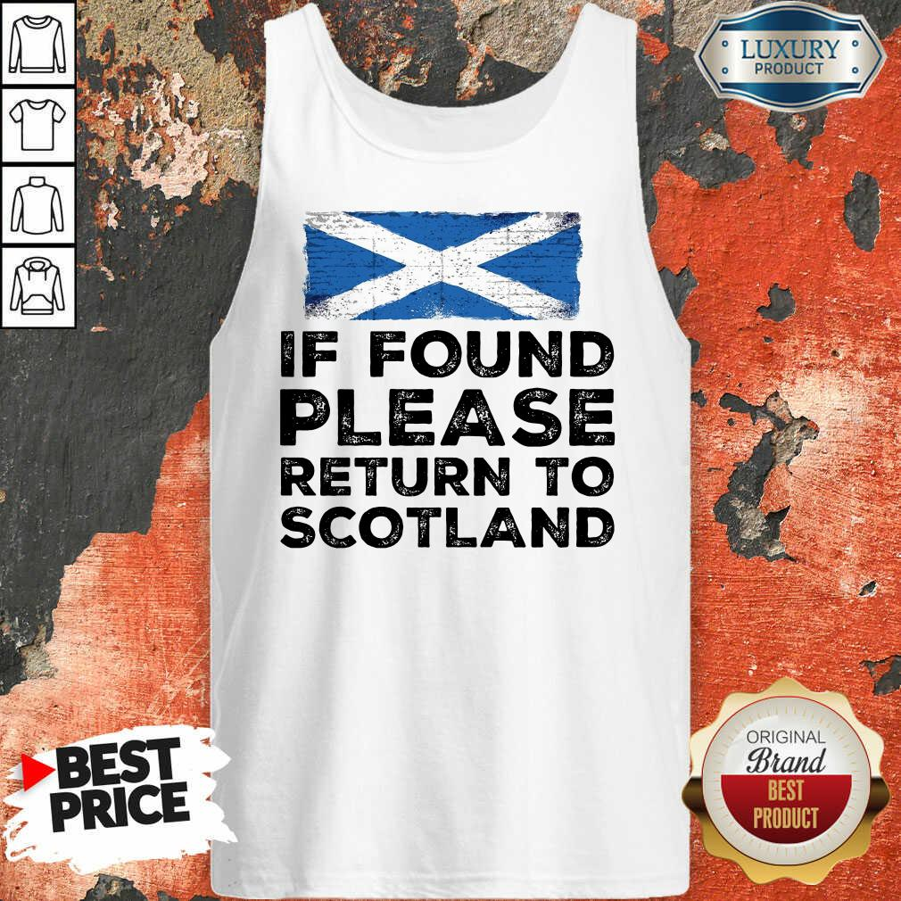 If Found Please Return To Scotland Tank Top
