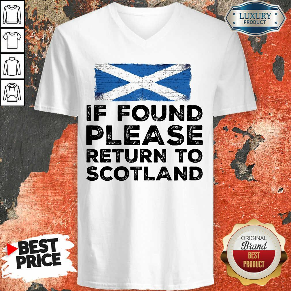 If Found Please Return To Scotland V-neck