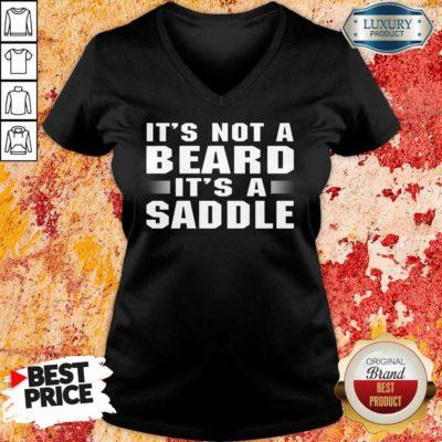 It's Not A Beard It's A Saddle V-neck