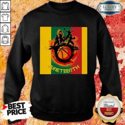 Juneteenth Basketball Team Sweatshirt