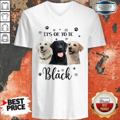 Labrador Retriever Its Ok To Be Black V-neck