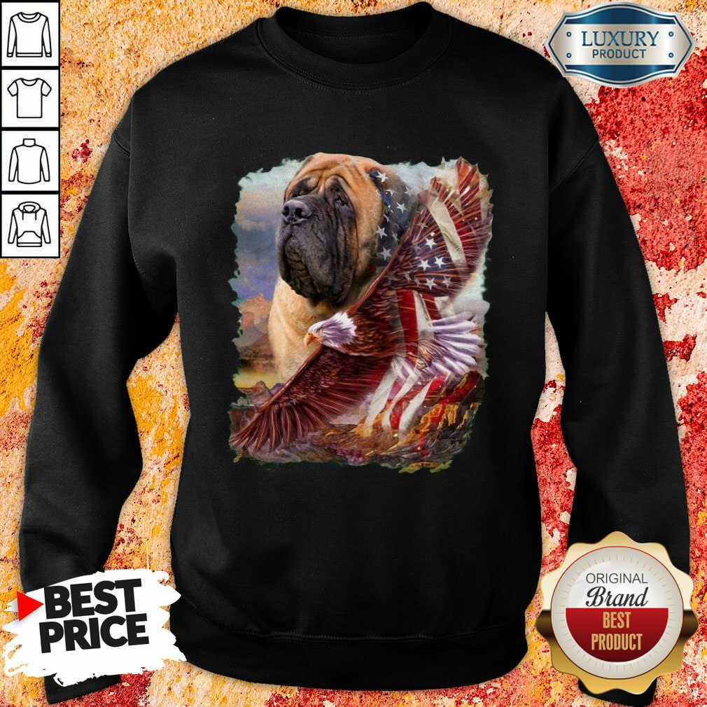 Mastiff American Eagle Patriot For Lover  Sweatshirt