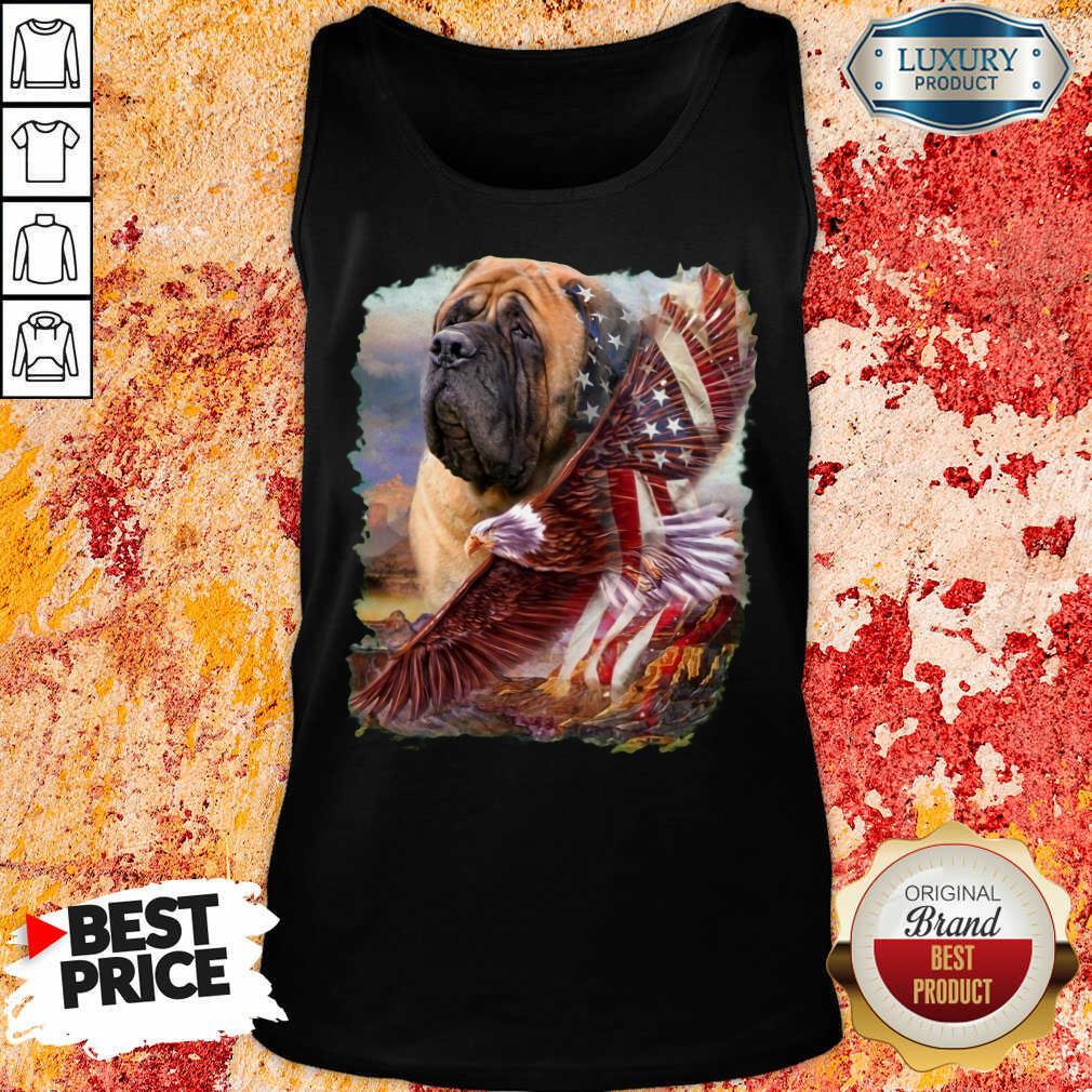 Mastiff American Eagle Patriot For Lover Tank Top