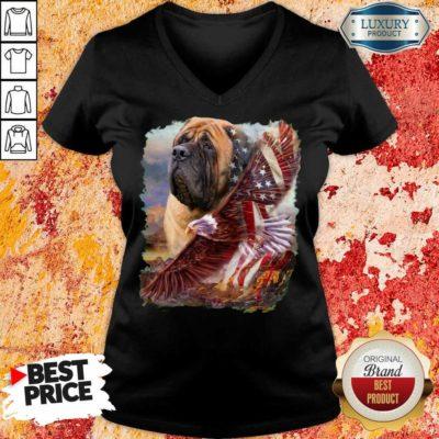 Mastiff American Eagle Patriot For Lover V-neck