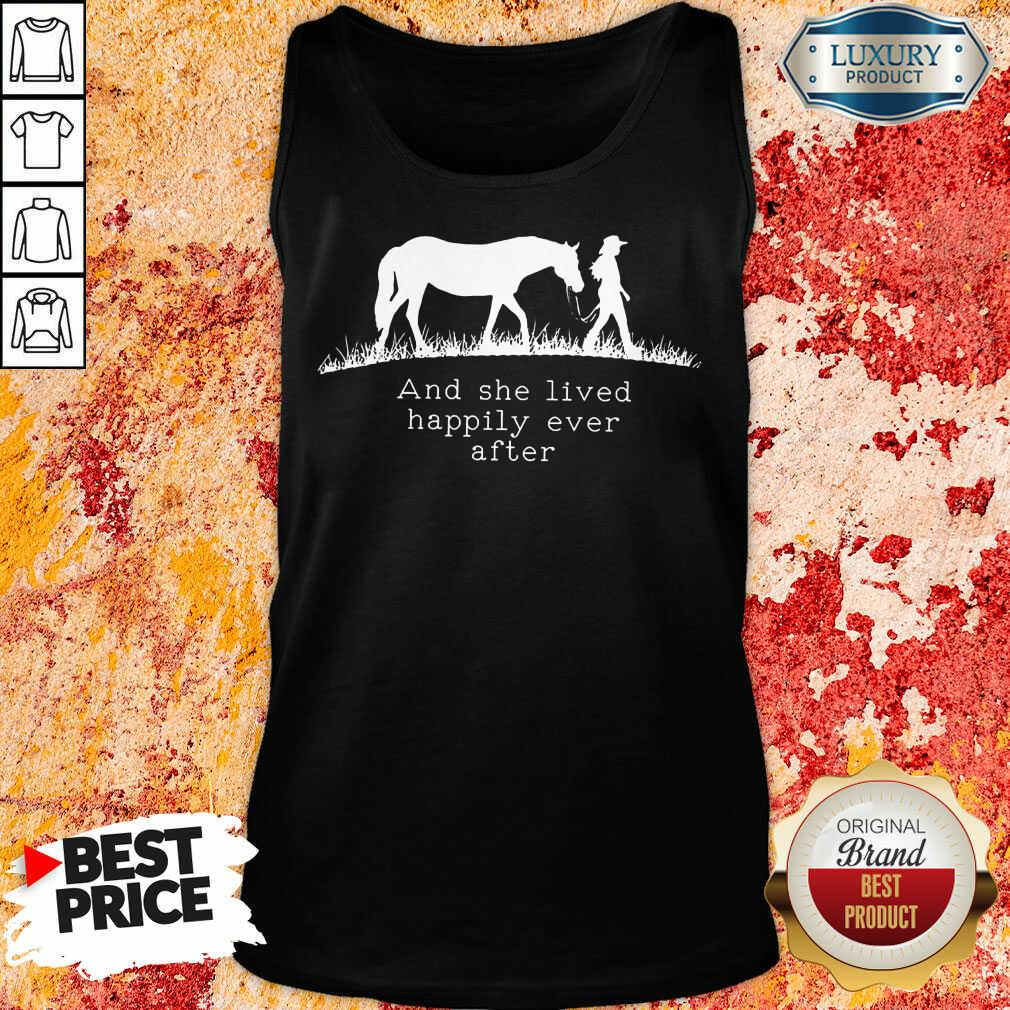 She Lived Happily Ever After Horse Tank Top