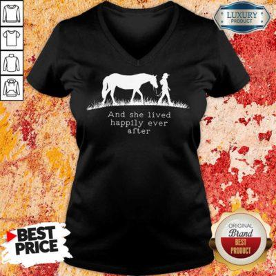 She Lived Happily Ever After Horse V-neck