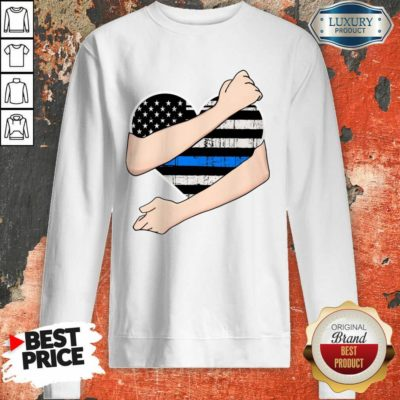 Thin Blue Line Heart Police Sweatshirt