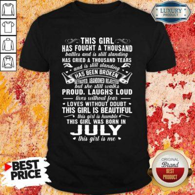 This Girl Is Beautiful July Girl Shirt