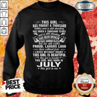 This Girl Is Beautiful July Girl Sweatshirt