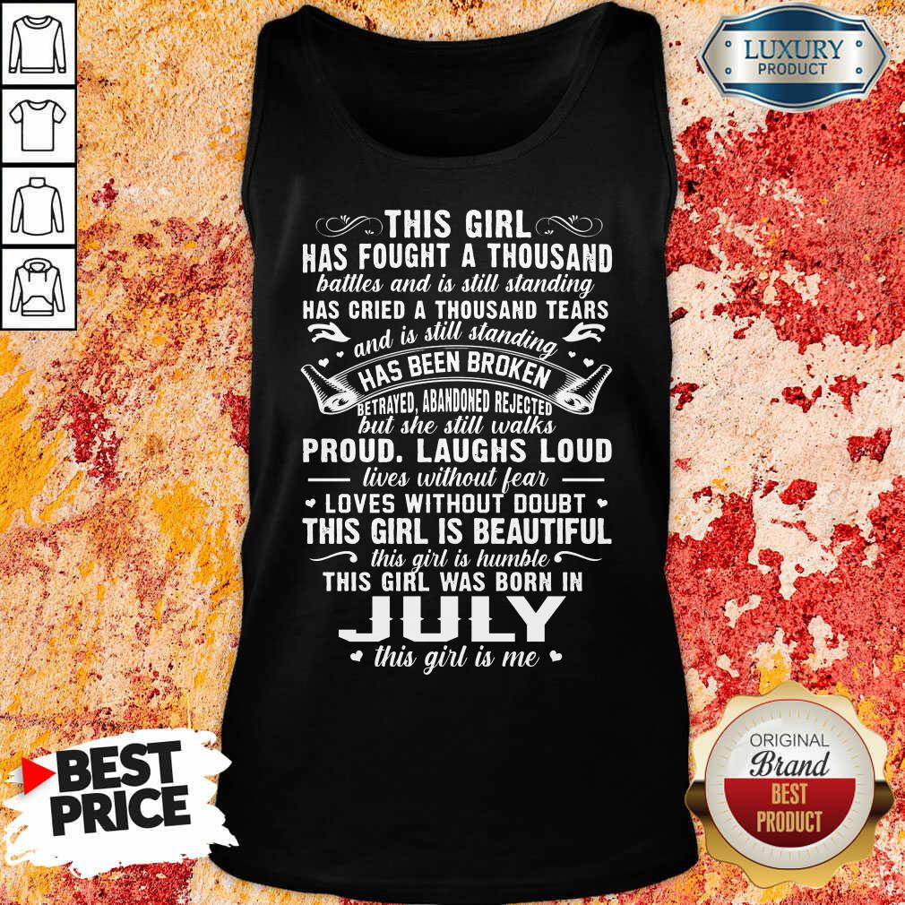 This Girl Is Beautiful July Girl Tank Top