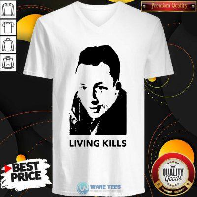 Albert Camus Living Kills V-neck