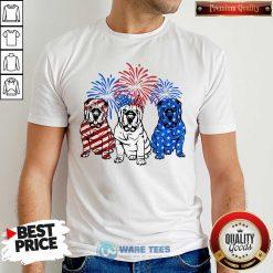 American Flag Pitbull 4th Of July Shirt