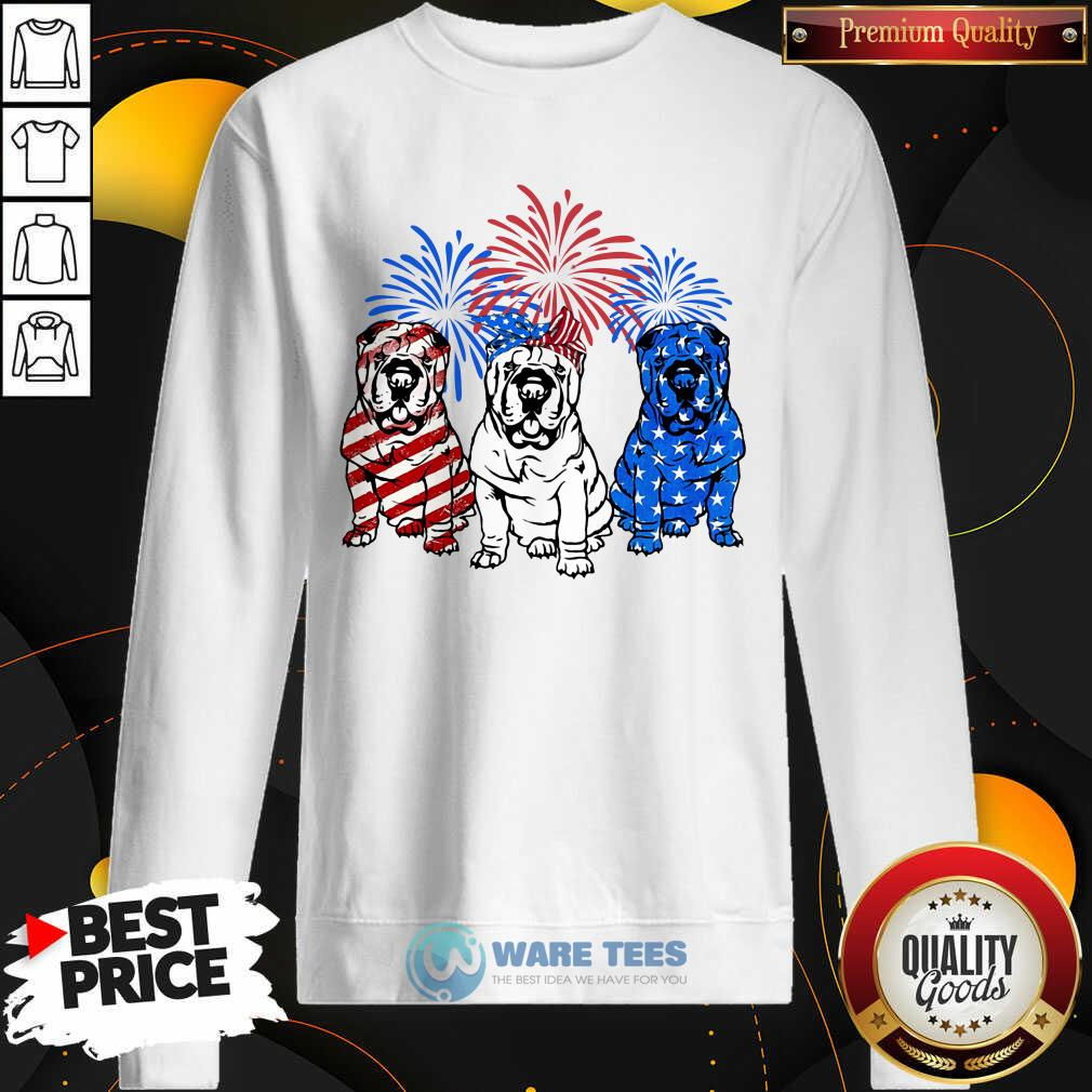 American Flag Pitbull 4th Of July Sweatshirt