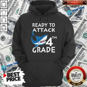 Awesome Shank Ready To Attack 4th Grade Hoodie