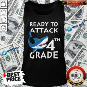 Awesome Shank Ready To Attack 4th Grade Tank Top