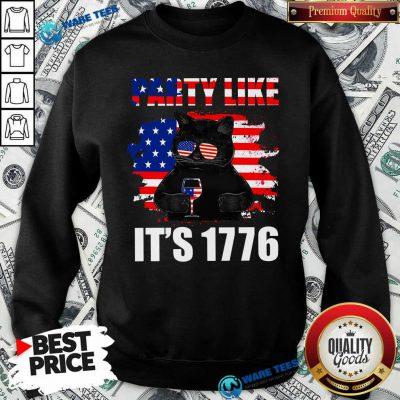 Black Cat Party Like Its 1776 Sweatshirt