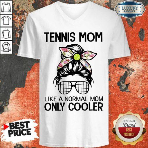 Bun Hair Tennis Mom Only Cooler V-neck