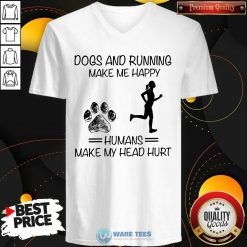 Dogs And Running Humans Make My Head Hurt V-neck