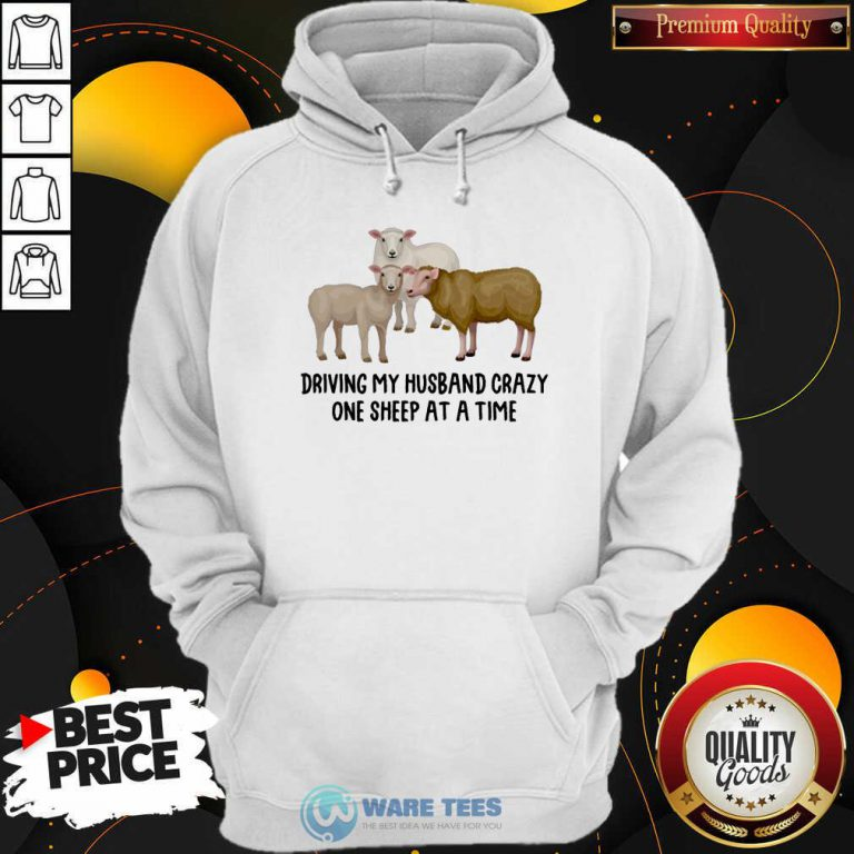 Driving My Husband Crazy One Sheep At A Time Hoodie