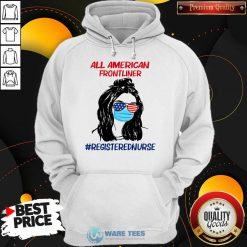 Girl All American Frontliner Registered Nurse Hoodie