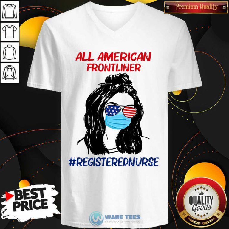 Girl All American Frontliner Registered Nurse V-neck