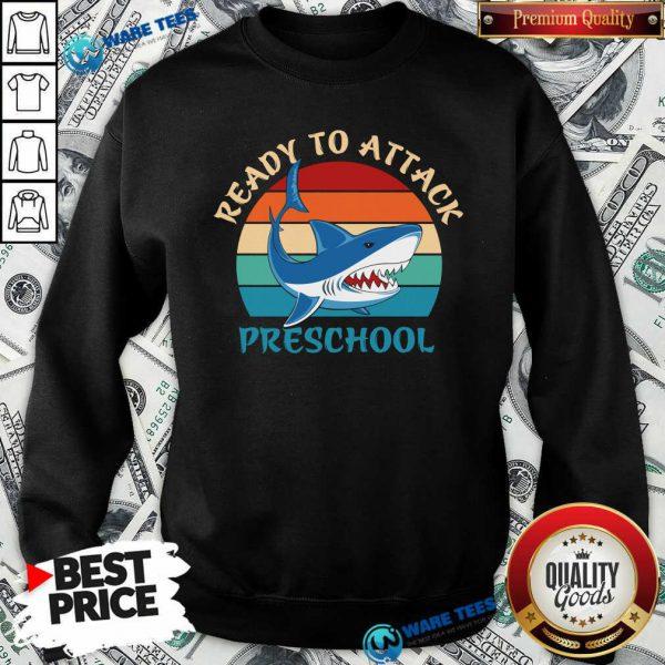 Happy Shank Ready To Attack Preschool Vintage Sweatshirt