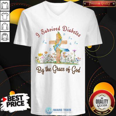 I Survived Diabetes By The Grace Of God V-neck