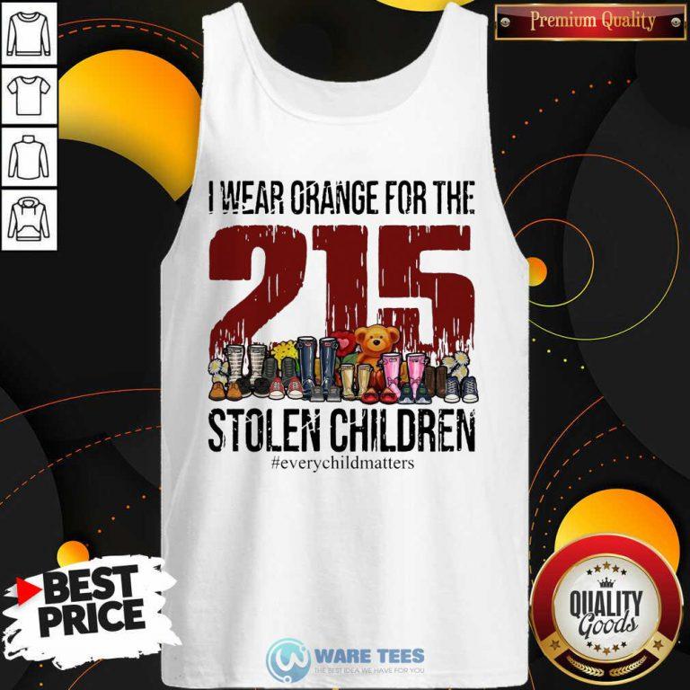 I Wear Orange For The 215 Stolen Children Tank Top